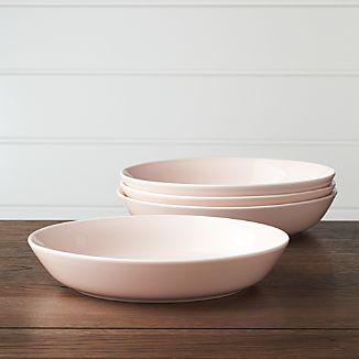 Set of 4 Hue Blush Low Bowls