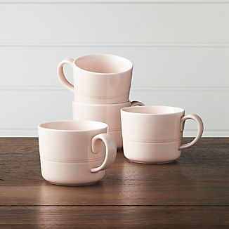 Set of 4 Hue Blush Mugs
