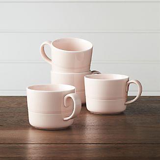 Set of 4 Hue Blush Mugs