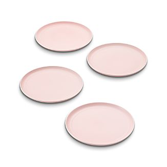 Set of 4 Hue Blush Dinner Plates