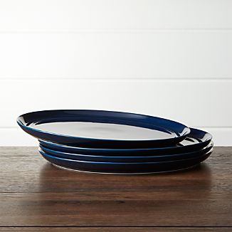 Hue Navy Blue Dinner Plates Set of Four