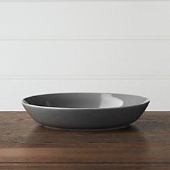 Hue Dark Grey Low Bowl