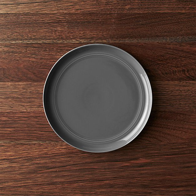 Hue Dark Grey Salad Plate