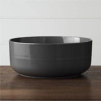 Hue Dark Grey Serving Bowl