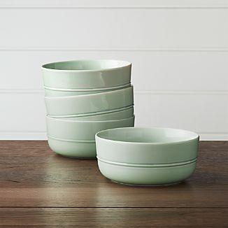 Set of 4 Hue Green Bowls