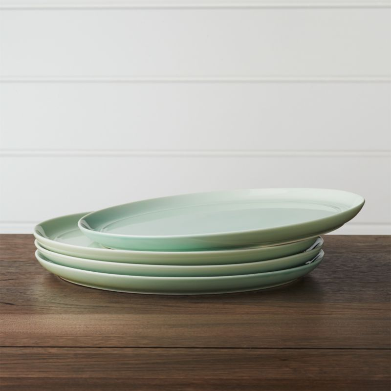 Set of 4 Hue Green Dinner Plates