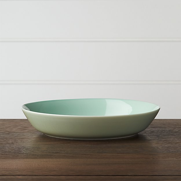 Hue Green Low Bowl
