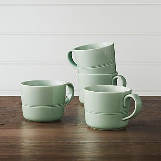 Set of 4 Hue Green Mugs
