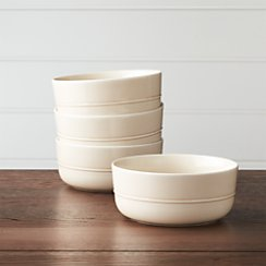Set of 4 Hue Ivory Bowls