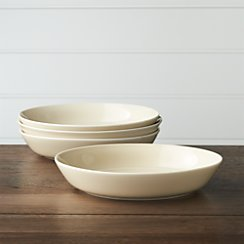 Set of 4 Hue Ivory Low Bowls
