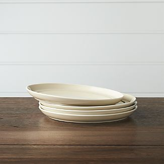 Set of 4 Hue Ivory Salad Plates