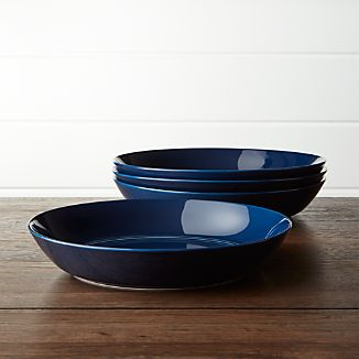 Hue Navy Blue Low Bowls Set of Four