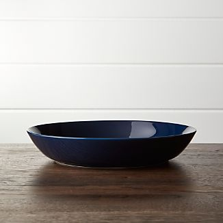 Hue Navy Blue Low Bowl