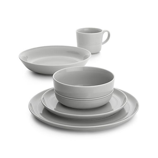 Hue Light Grey Dinnerware