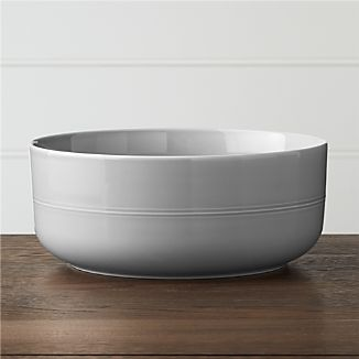 Hue Light Grey Serving Bowl