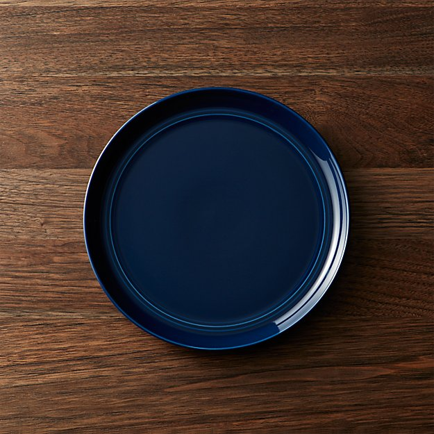 Hue Navy Blue Salad Plate Crate And Barrel