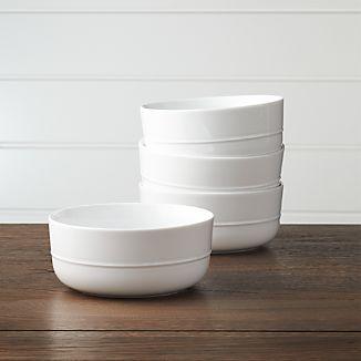 Set of 4 Hue White Bowls