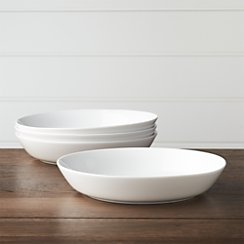 Set of 4 Hue White Low Bowls