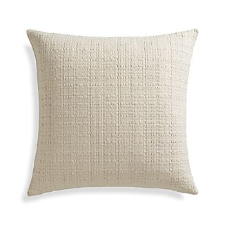 "Hugo 23"" Pillow with Feather-Down Insert"