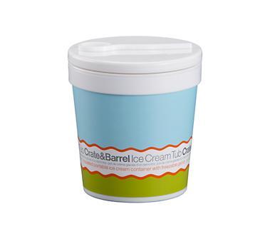 Crate & Barrel Ice Cream Pint Tub