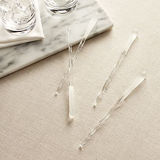 Icicle Swizzle Sticks Set of 4