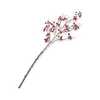 Icy Red Berry Stem Artificial Branch