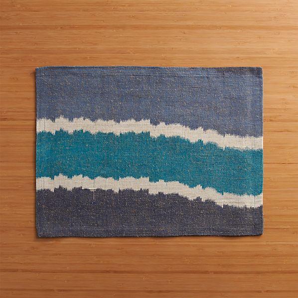 Ikat Blue Stripe Placemat