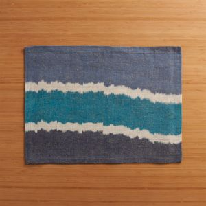 Ikat Blue Stripe Placemat