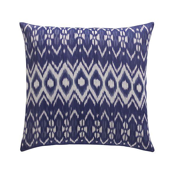 "Ikat 23"" Pillow with Down-Alternative Insert"