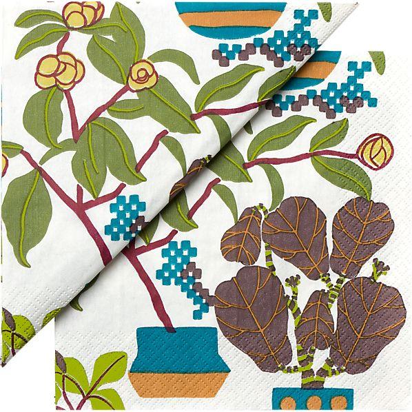 "Set of 20 Marimekko Ikkunaprinssi Paper 6.5"" Napkins"