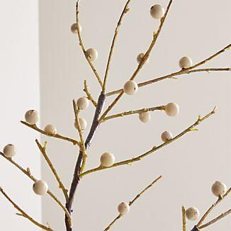 Ilex White Berry Stem Branch