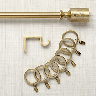 Ilsa Brass Curtain Hardware