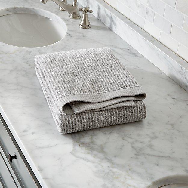 Marimekko Ilta Grey Striped Bath Towel