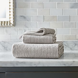 Marimekko Ilta Grey Striped Bath Towels