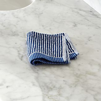 Marimekko Ilta Blue Washcloth