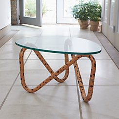 Indigo Rattan Side Table