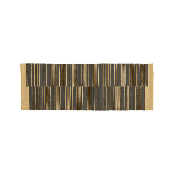 Indigo Stripe 2.5'x7' Rug Runner