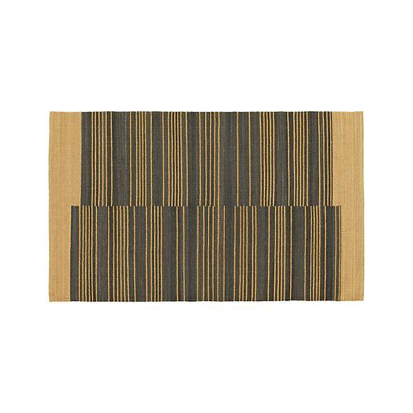 Indigo Stripe 3'x5' Rug