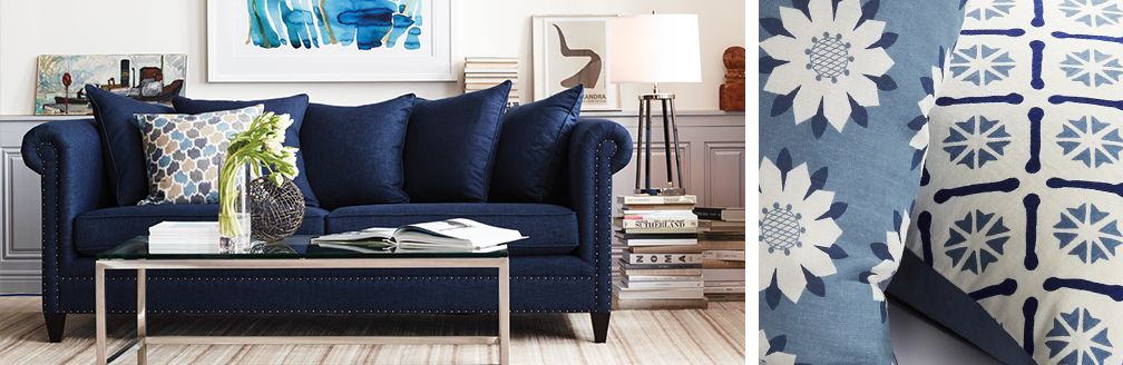 Color Trend Indigo Home Decor Crate And Barrel For Bedroom Ideas