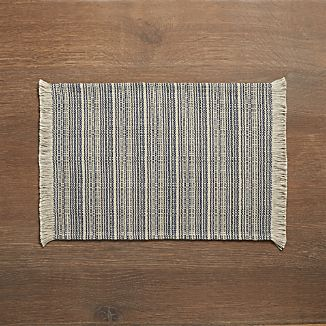 Ingrid Blue Striped Placemat