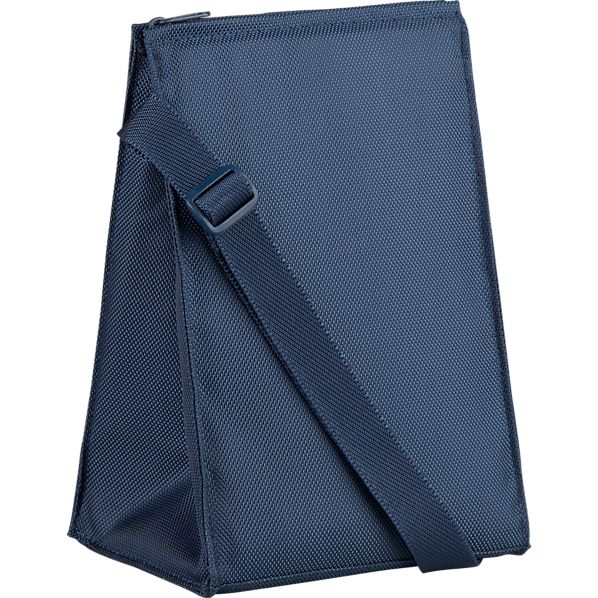 Insulated Blue Lunch Bag