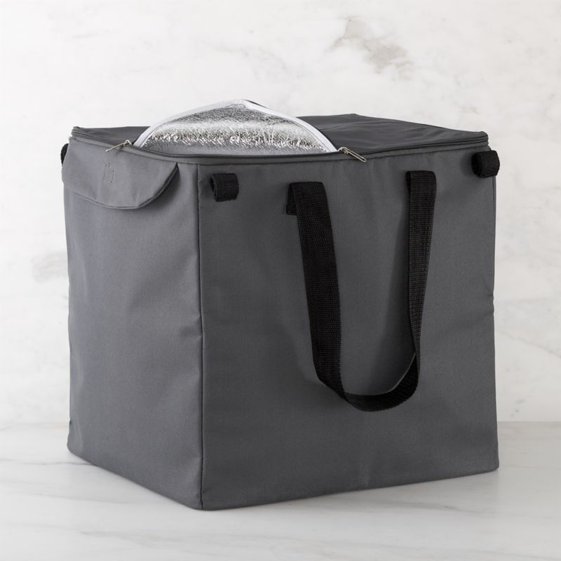 Life meets style™ at the intersection of form and function courtesy of the bright minds at Polder® Housewares. Custom-designed for our folding shopping cart, this insulated grey liner features generous capacity, zipper closure, carrying handles aluminum and sponge padding to keep foods cold. Liner affixes easily to cart with fabric tab fasteners.<br /><br /><NEWTAG/><ul><li>Non-woven polypropylene</li><li>Aluminum lining with EPE sponge</li><li>Zipper closure, fabric tab fasteners</li><li>30-pound capacity</li><li>Clean with a damp cloth</li><li>Made in China</li></ul>