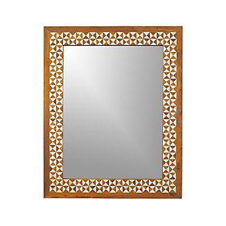 Intarsia Rectangular Wall Mirror