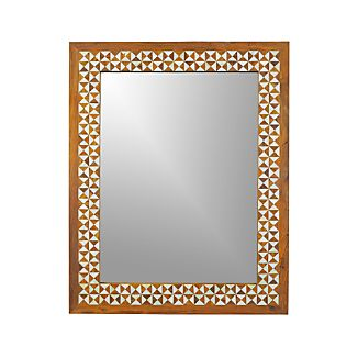 Intarsia Rectangular Wall Mirror