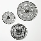 3-Piece Intricate Circle Metal Wall Art Set: one of each size.