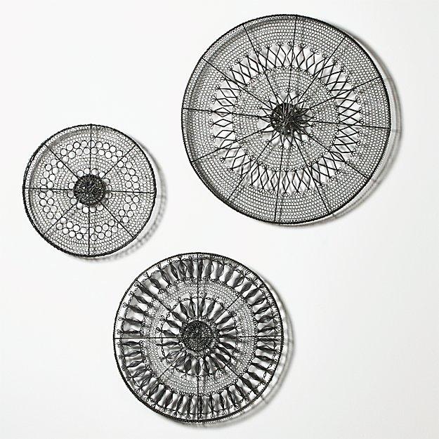 3-Piece Intricate Circle Metal Wall Art Set