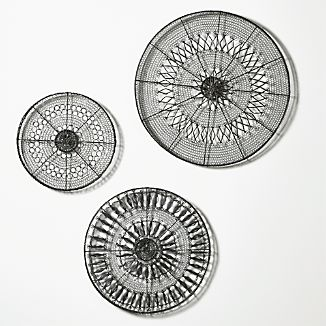 3-Piece Intricate Circle Metal Wall Art Set