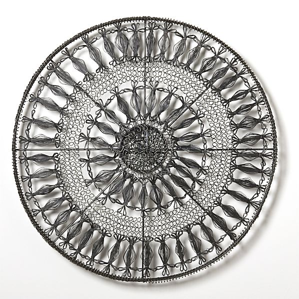 Crate And Barrel Outdoor Wall Decor : Intricate circle medium metal wall art in crate