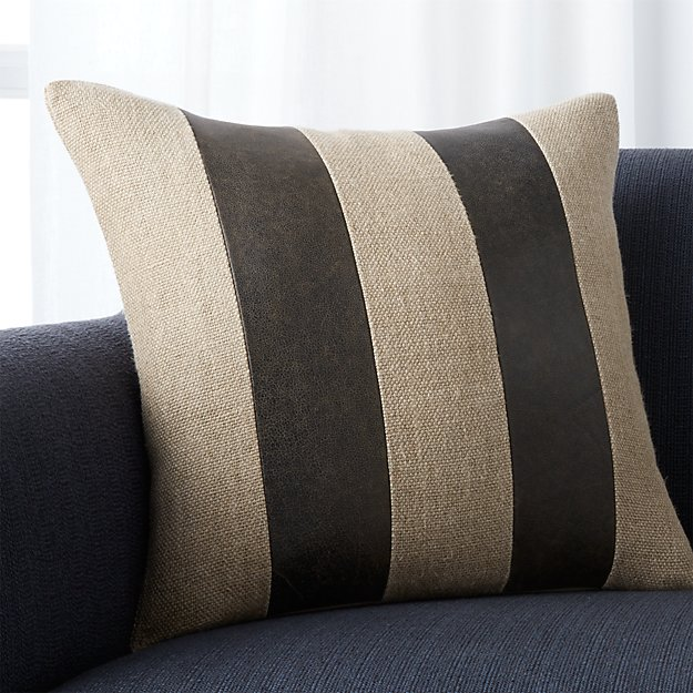 """Ira Grey 18"""" Pillow with Feather-Down Insert"""