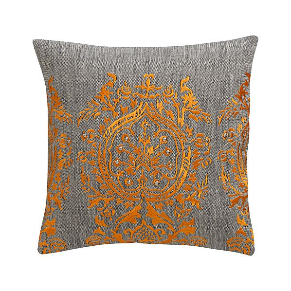 """Isabelle 12"""" Pillow with Feather-Down Insert"""